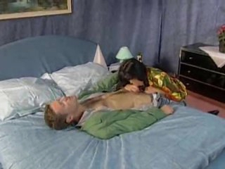 That babe rubs her cunt while he fucks her butthole