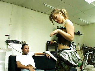 Hot mechanic fixes car then rides a cock