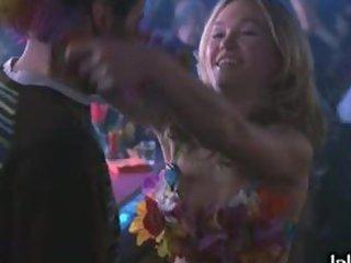 Blonde Chick Julia Stiles Dancing in Bikini in a Night Club