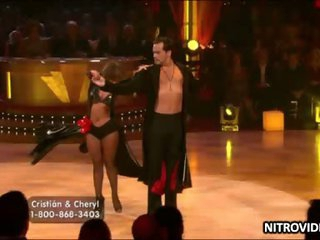 Boner-Inducing Playgirl Cheryl Burke Dancing In a Taut Leather Suit