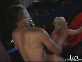 Breasty Blonde Playgirl Calli Cox Gets Fucked Doggy Style In a Short Skirt