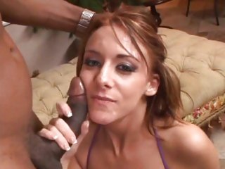 Alluring Sierra Sin gets her face splattered with cum