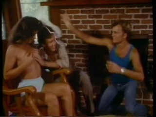 Sensual Retro Brunette hair Gets Threesomed By Jerry Butler and John Seeman