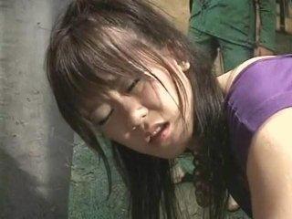 Japanese girl dancing enema