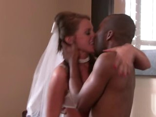 Horny Bride Has Hardcore Sex With A Big Black Cock