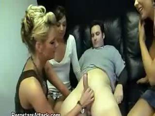 Horny Sluts Share Lucky Cock