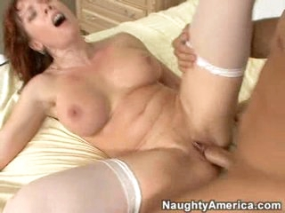Nasty milf Brittany Oconnell is reamed hard and then overspread in cum.