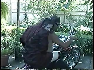 Biker wins skank as prize