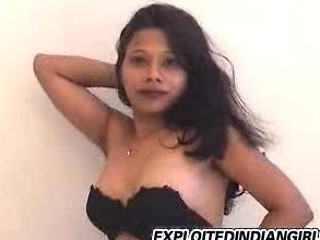 Indian babe disrobes then plays with her wet pussy
