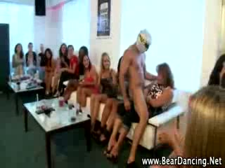 Private cfnm party with stripper