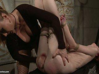 Katy Borman giving a dildo ass fuck to hot babe