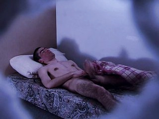 Sleep wanking makes him cum in sleep