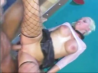 Her pierced cunt is rammed by his big cock