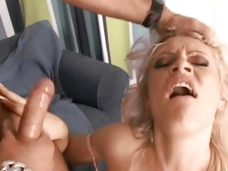 Kitty Sixx gets her face splattered with hot cum