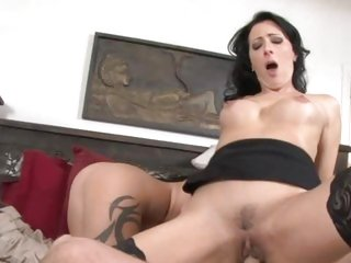 Zoe Holloway bounces her pussy on a huge prick