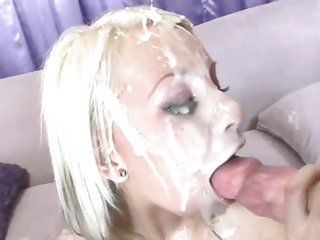 Alluring Barbie Addison is splattered in nob sauce
