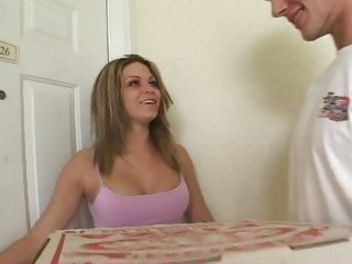 Pizza delivery guy gets a tip from Jessie Jolie