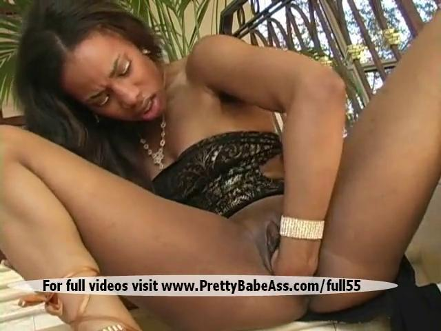Brunette has big amount of big clit