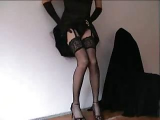 Tempting crossdresser in sexy lingerie is at your service