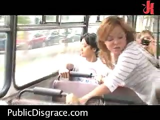 Hot Public Scene On The Bus