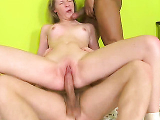 Neat chick gets nailed doggystyle