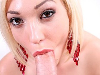 Arryn is one hawt little golden-haired with serious cum addiction. That Babe sucks shlong like a champ and gets it unfathomable down her mouth. After some sloppy and wet schlong engulfing this babe rides his dick and gets her shaved slit pounded. Then Arr