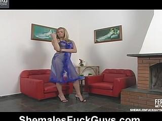 Alexia shemale bonks lad action