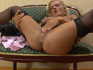 Hannah showing her nylons