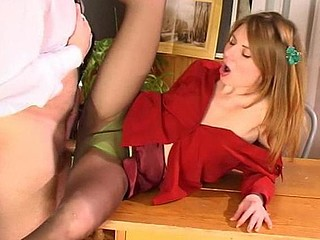 Alice&Peter screened during the time that pantyhosefucking
