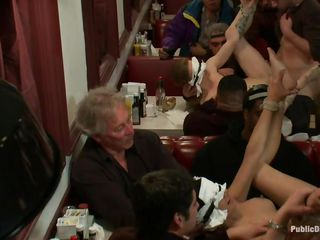 beretta james and her friend get fucked in a diner
