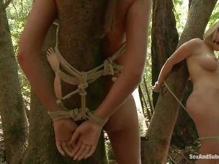 cuties tied on trees