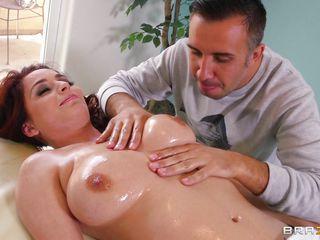 redhead ashley graham gets a sexy massage