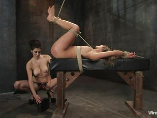 mistress uses electricity and a dildo to fulfill her desires