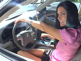 Bewitching brunette milf India Summer is having fuck with neighbor