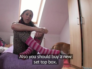 Mind-blowing doggystyle poundings for Yenka in cute stockings