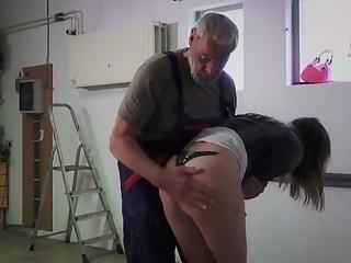 Teen Step ###ter Masturbating Doggy Style Fucks Old Man