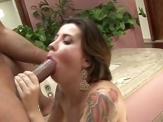 Bruna Vieira in This tattooed slattern wants Ed's cock in her butt - Fhuta