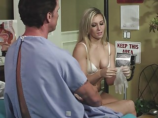 A girl with a sexy pussy is fucked deeply in the medical centre