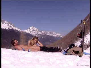 Threesome With Two Hot Babes Outdoors In The Mountains