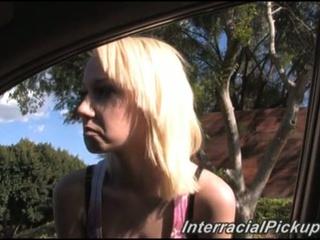 Alexia, a tiny white girl, looking bored, needing a huge dark 10-Pounder