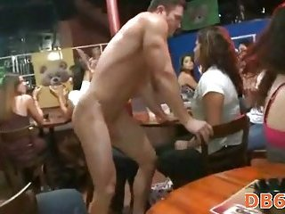 Strip dancer sucked at hen-party