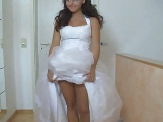 Cutie in her wedding costume fucked hard