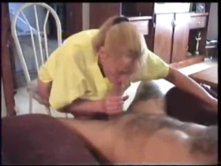 Yummy blonde wife blows her hubby