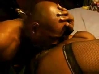 He eats out and fucks the wet black slut