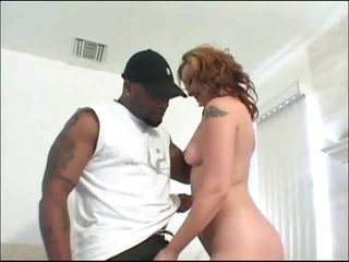 Large black cock does a white gal like a slut