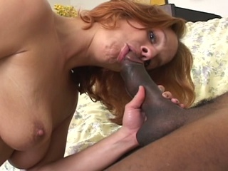 Biggest black cock for one horny cum eating brunette milf