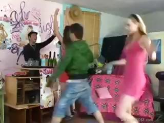 House sex party with all those crazy teens engulfing and fucking