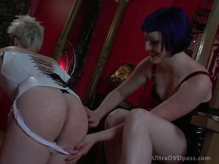 Uncomplaining Male Puts On Leather Lingerie and Acquires His Ass Spanked and Whipped