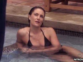 Gorgeous Brunette Madchen Amick Swimming In a Bonerific Darksome Bikini