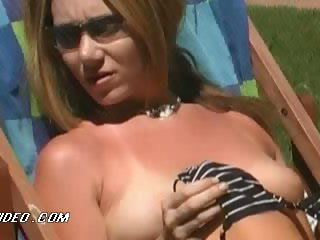 Bonerific Beverly Lynne and Kitana Baker Sunbathing Totally Naked
